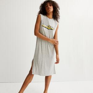 vestido con estampado Los Minions - gris