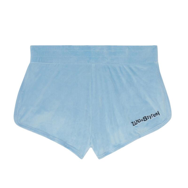 pantalones cortos lisos Stitch - azul;