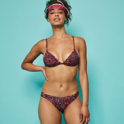 Top de bikini con estampado animal swimnakiz pink.