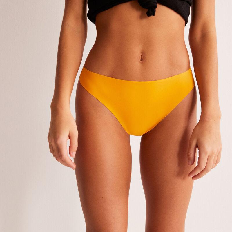 braguita brasileña de encaje con corazones - amarilla;