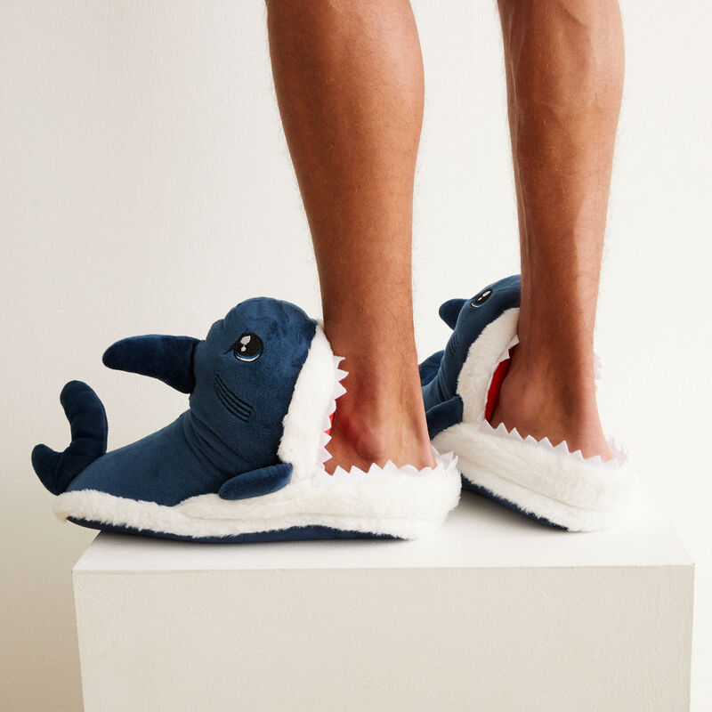 zapatillas tiburón - azul;