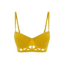 Sujetador bustier push-up amarillo mostaza guibeliz yellow.