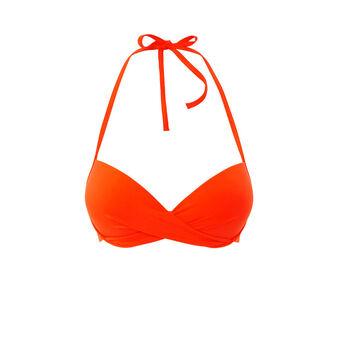 Parte de arriba de bikini naranja twistiz orange.