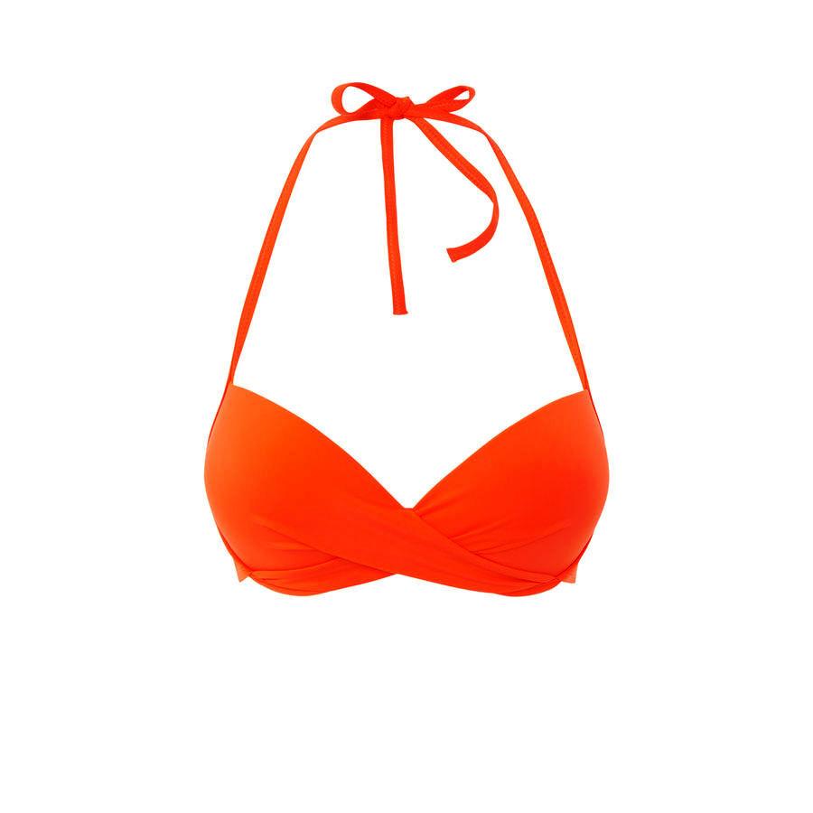 Parte de arriba de bikini naranja Twistiz;${refinementColor}