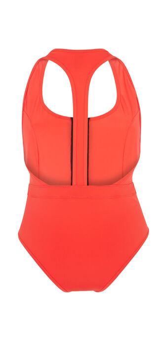 Bañador deportivo rojo superbodiz.  red.