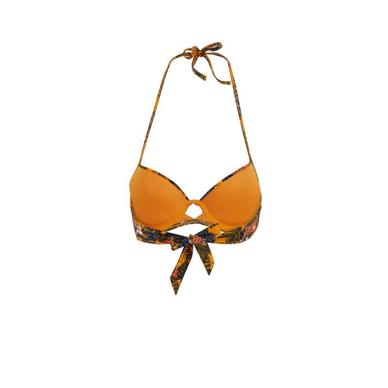 Parte de arriba de bikini push-up naranja gabiz;