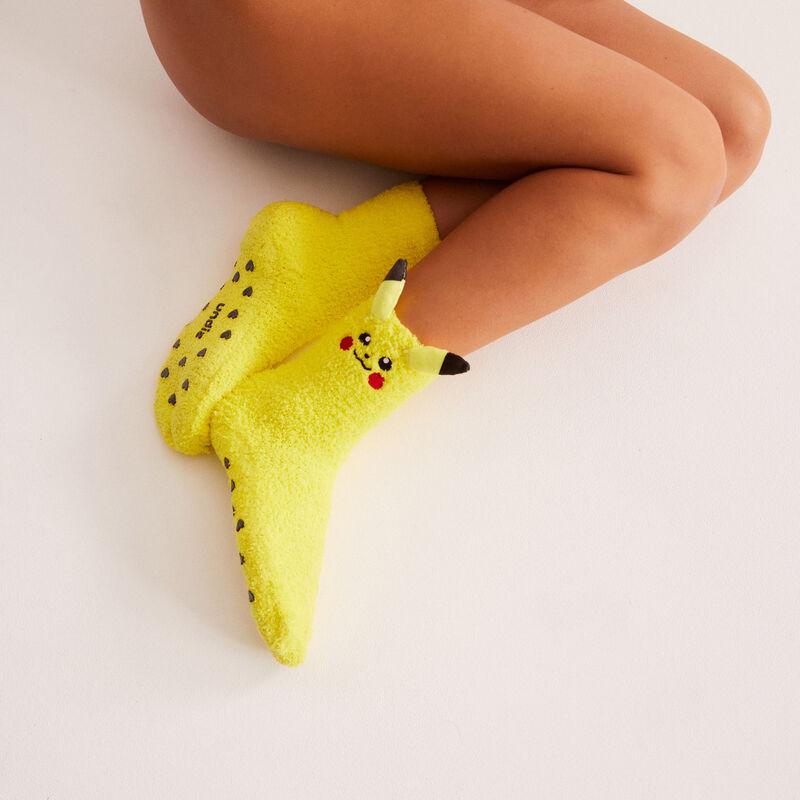 calcetines Pikachu - amarillo;