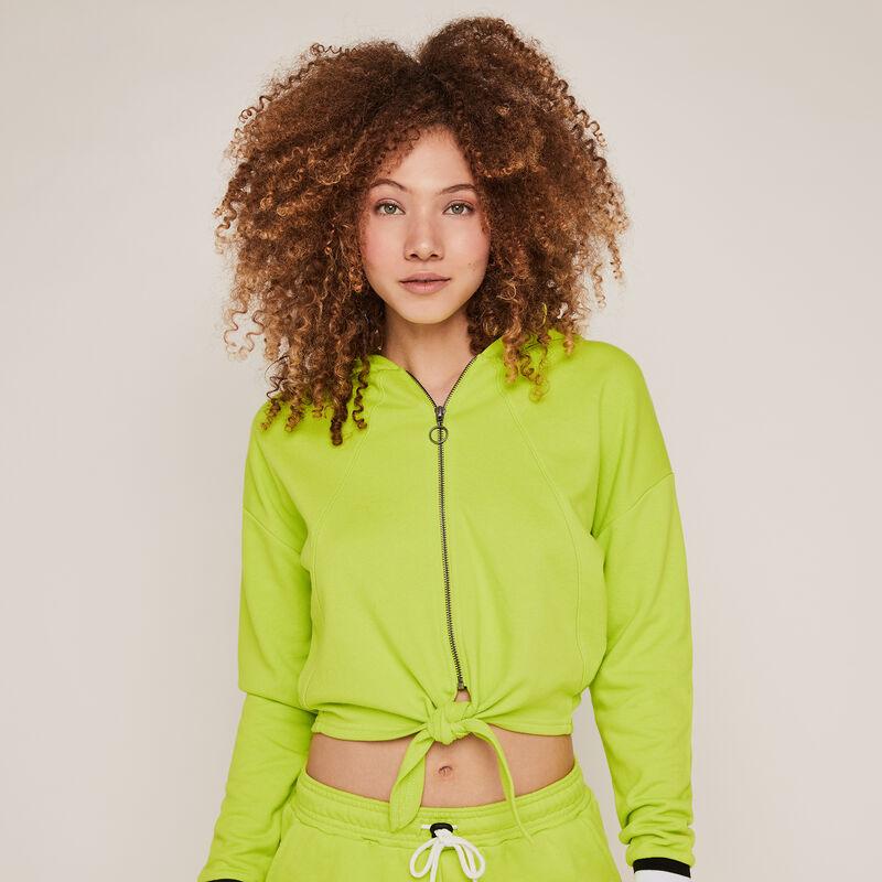 Sudadera con capucha y cremallera - verde;