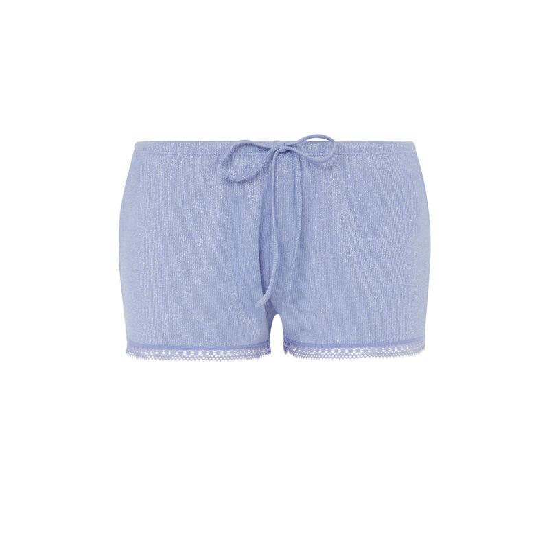 Shorts con cordón en la cintura - violeta;