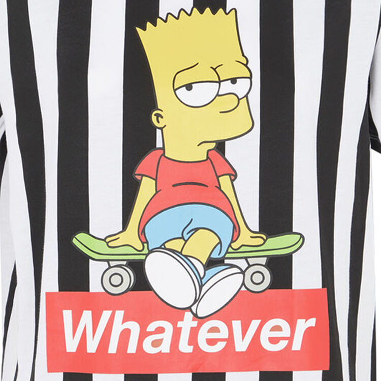 Camiseta de rayas con estampado bart;