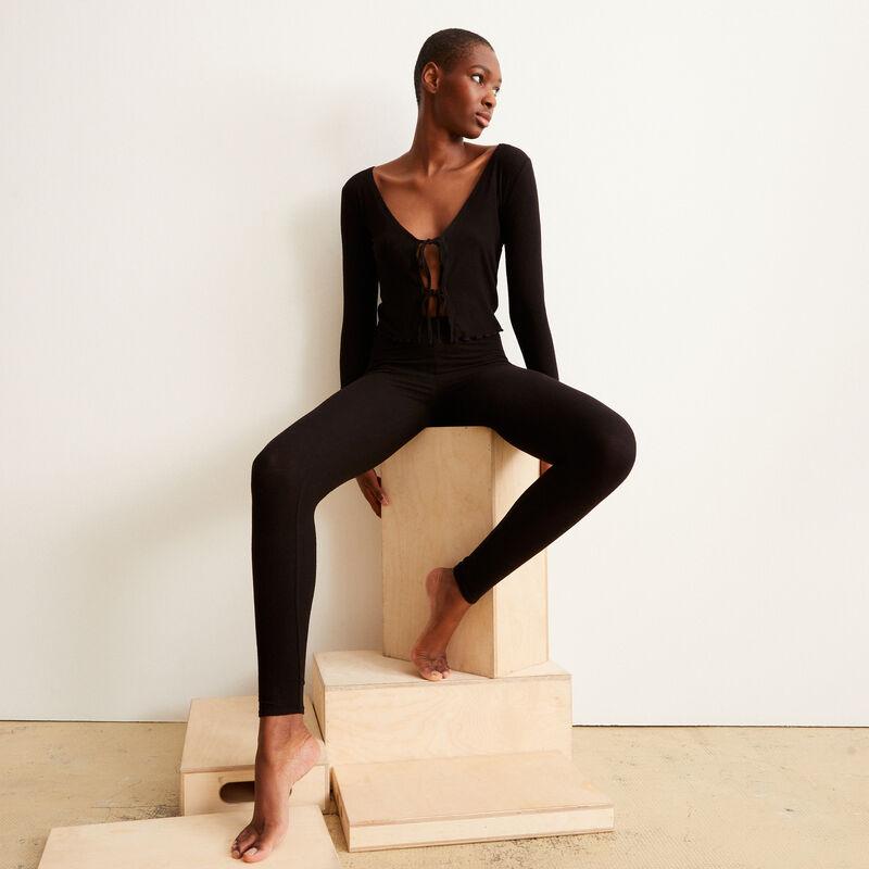 Leggings lisos - negro;