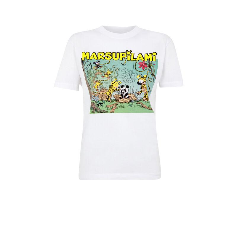 Top de manga corta Marsupilami - blanco;
