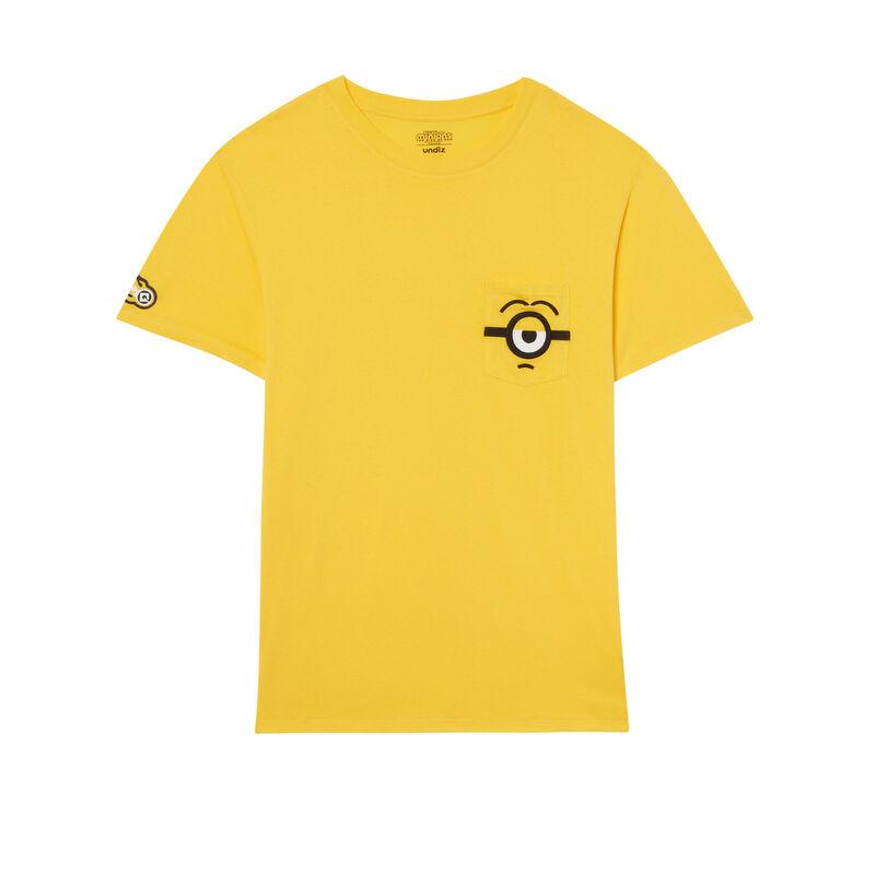 Camiseta con detalles en el bolsillo de Los Minions - amarilla;