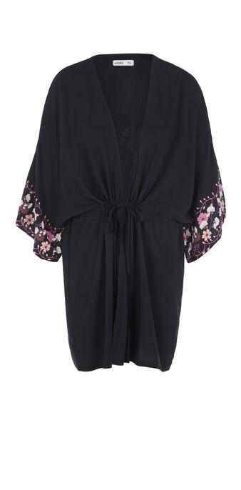Kimono negro plabriseliz black.