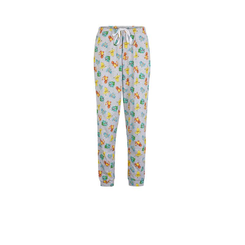 pantalón con estampado de Pokemon - gris;