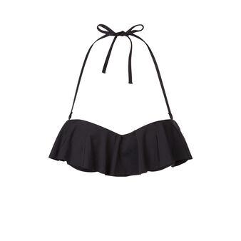 Parte de arriba de bikini negra citroniz black.