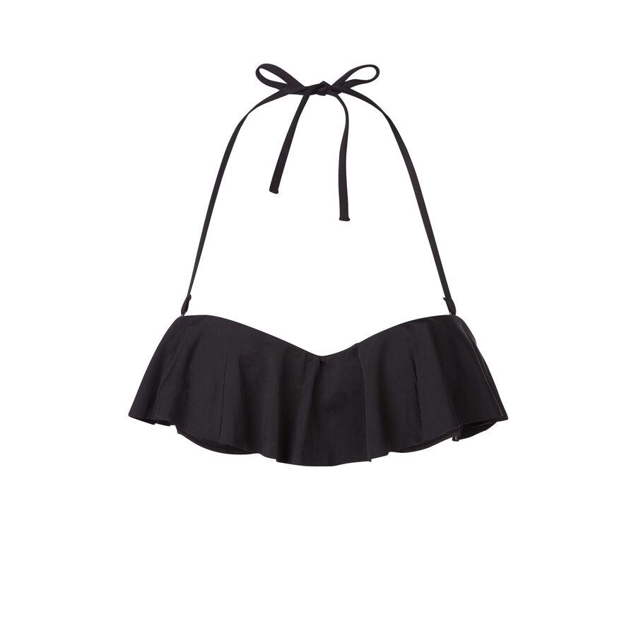 Parte de arriba de bikini negra citroniz;${refinementColor}