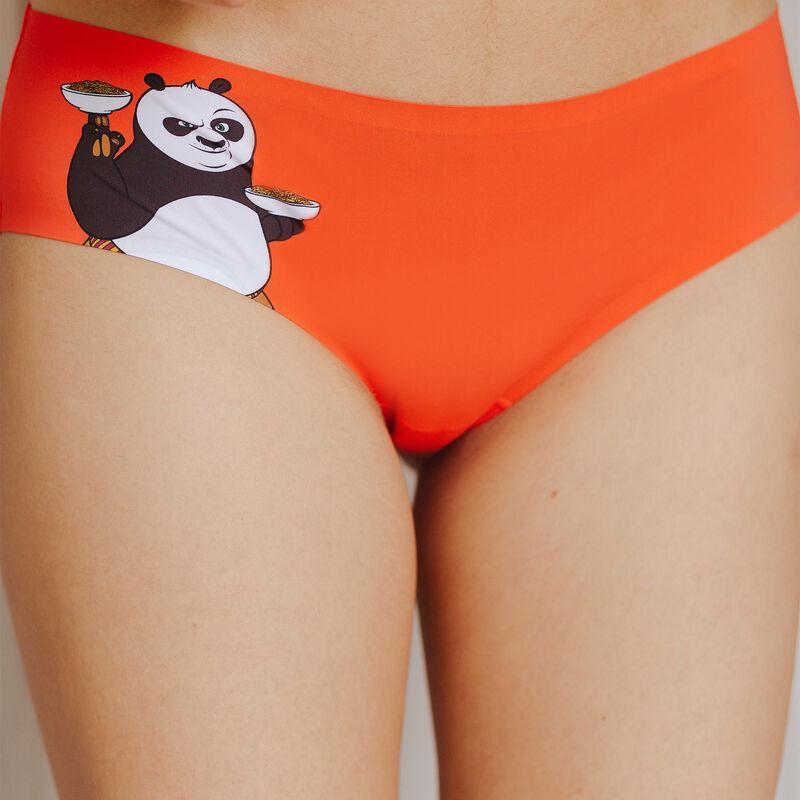Braguita culotte de microfibra Kung Fu Panda - naranja;