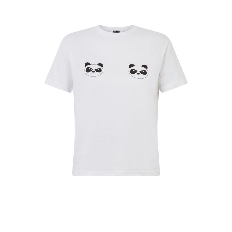 Camiseta con motivos de panda - blanca;