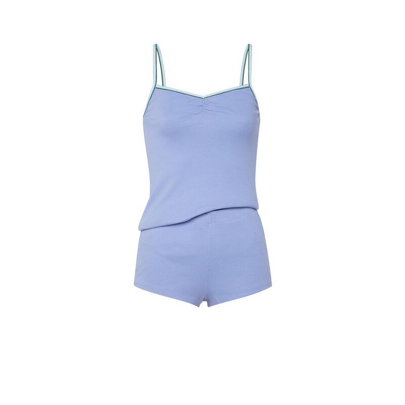 Conjunto de camisola + shorts - azul cielo ;