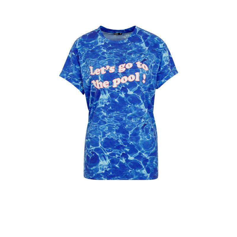 Camiseta azul interpisciniz;