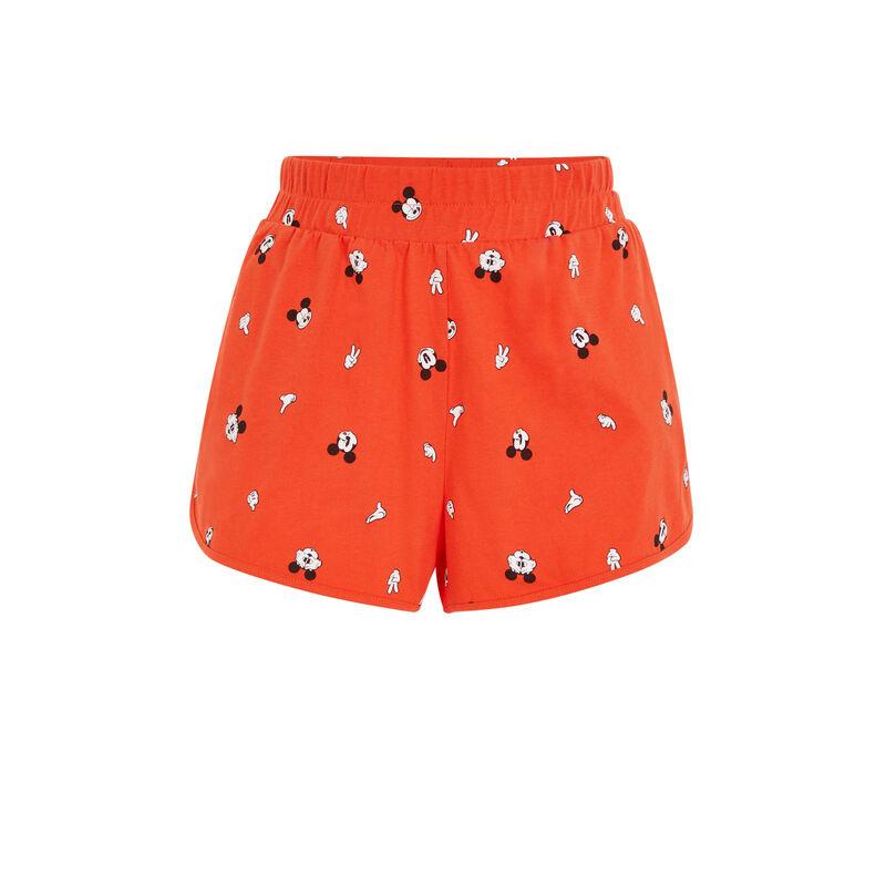 Short con estampado de Mickey - naranja ;