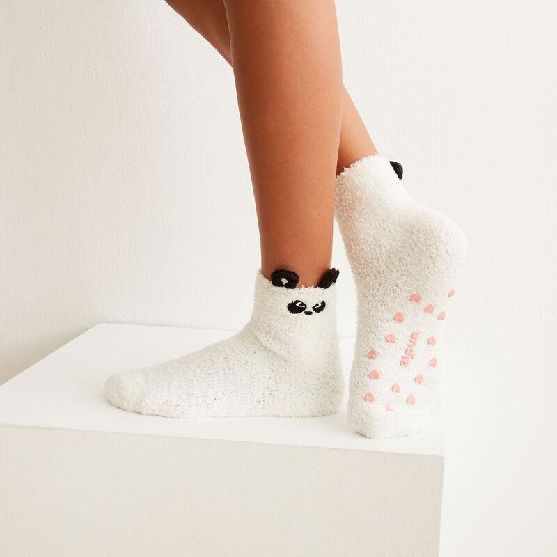 Calcetines de panda gruñón - blanco;