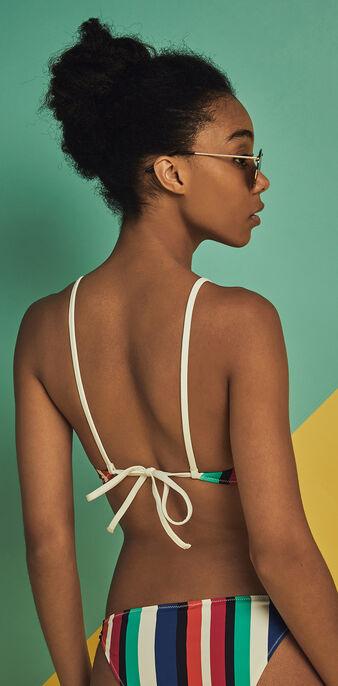 Top de bikini bralette bahamiz multicolor dewberry.