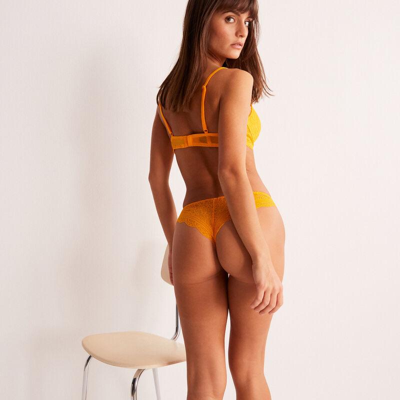 sujetador push-up de encaje - mango;