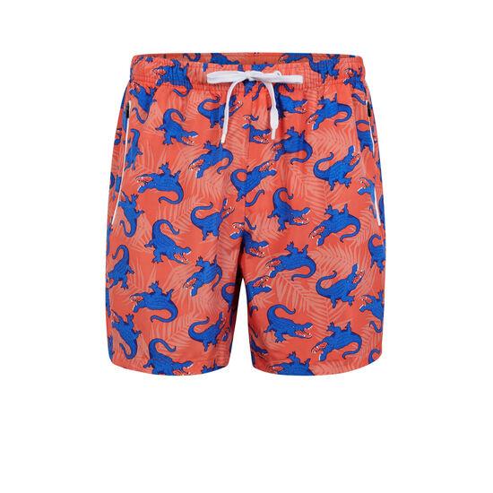 Shorts de baño coral crocodiliz;