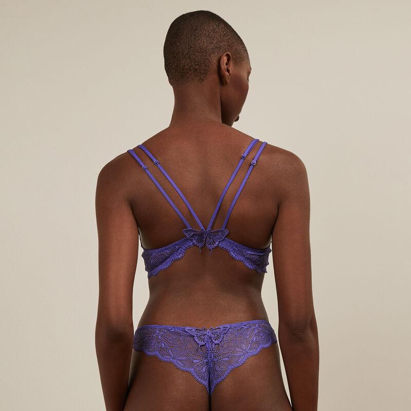 sujetador de aumento de encaje - violeta ;