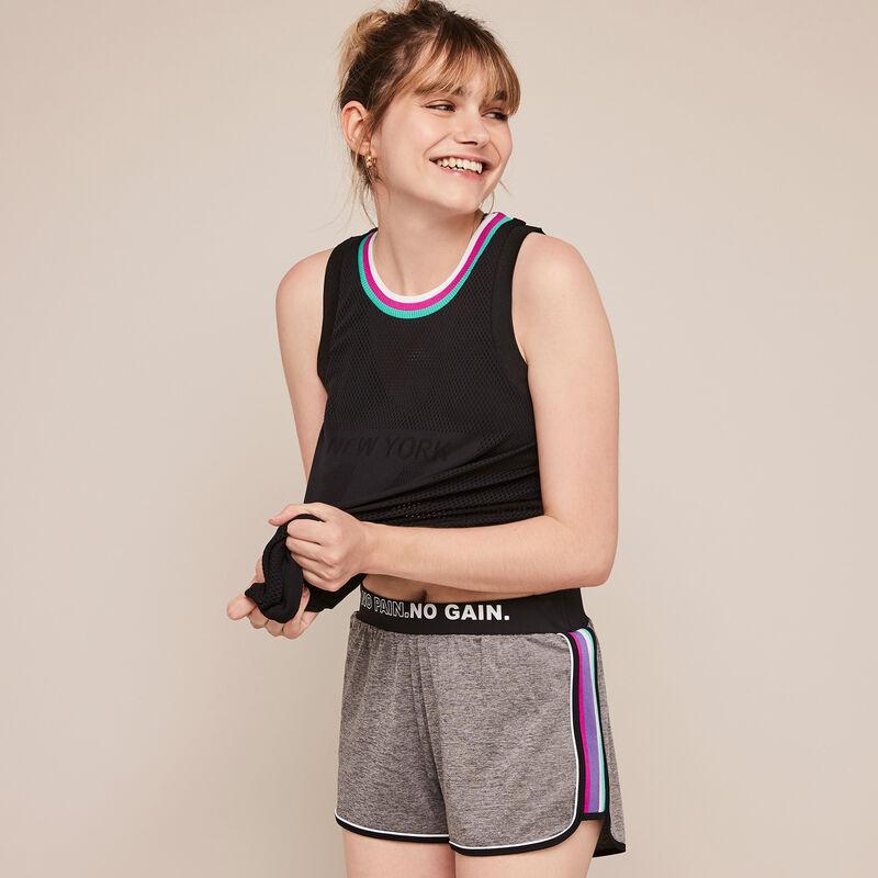 Shorts deportivos de micro polasportiz;