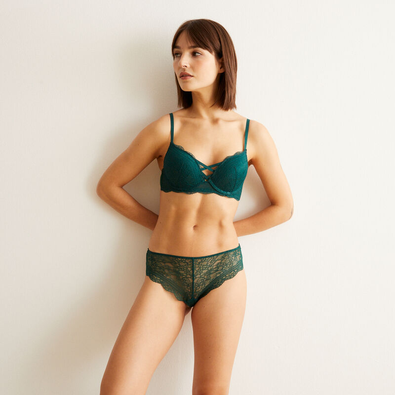 Braguita culotte con encaje - verde ;