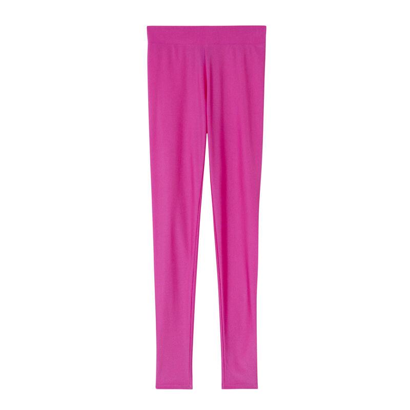 Leggings lisos de lycra - rosa;