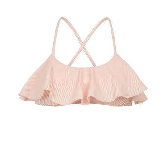 Parte de arriba de bikini rosa claro stripiz pink.