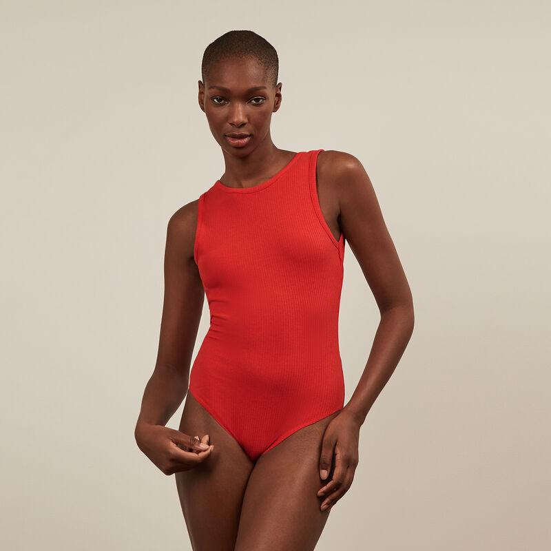 Body sin manga con la espalda abierta - rojo;