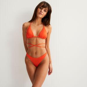 parte de abajo de bikini baja lisa - rojo