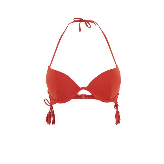 Top de bikini push rojo teja islandiz;