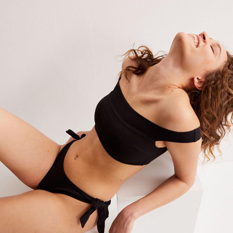 Parte de arriba de bikini con sujetador con hombre desnudo - negro;