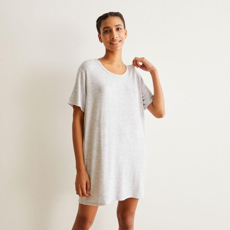 camiseta larga de manga corta - gris ;