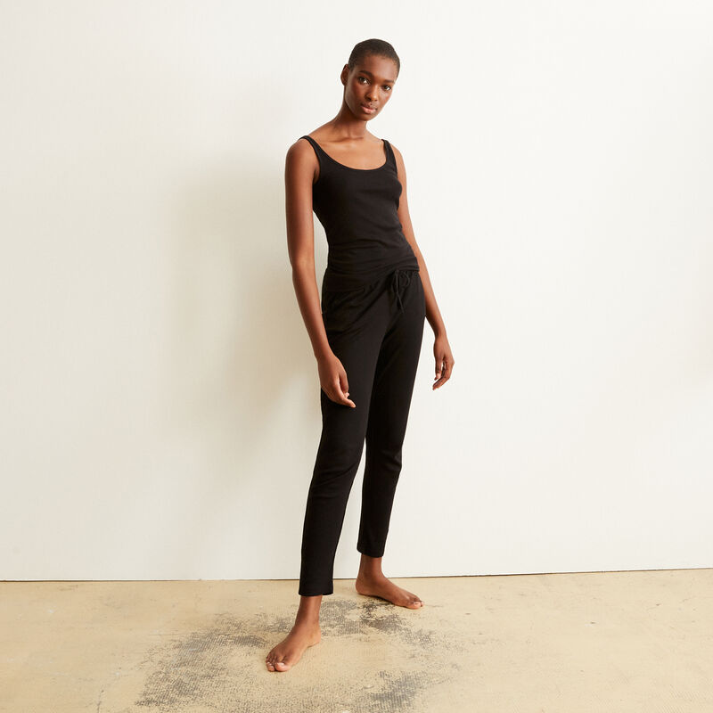 pantalón de punto - negro ;