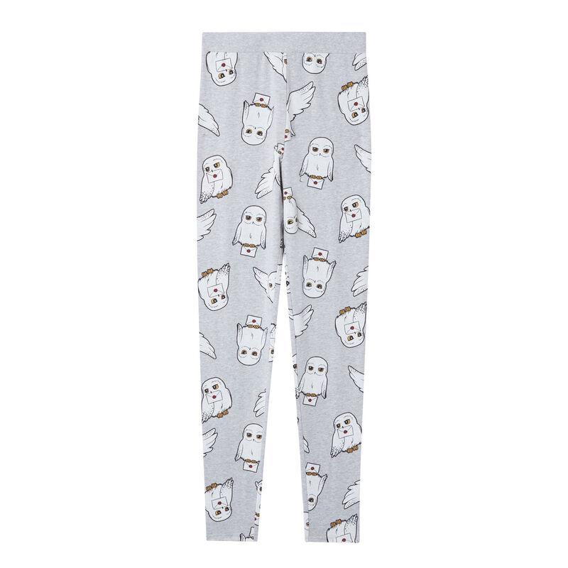 leggings con motivos de hedwig - gris;