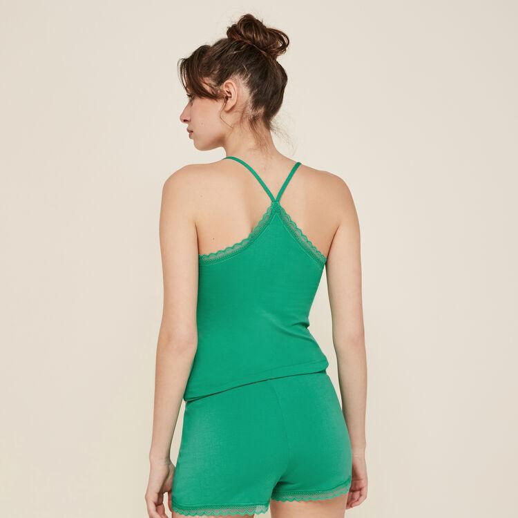 Shorts verde esmeralda vitamiz;