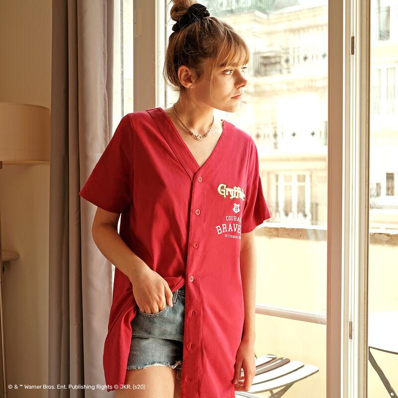 camiseta larga Gryffindor - burdeos;