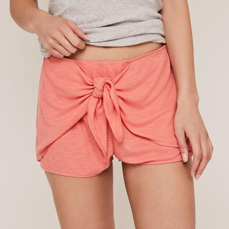 Short liso de punto color - coral ;