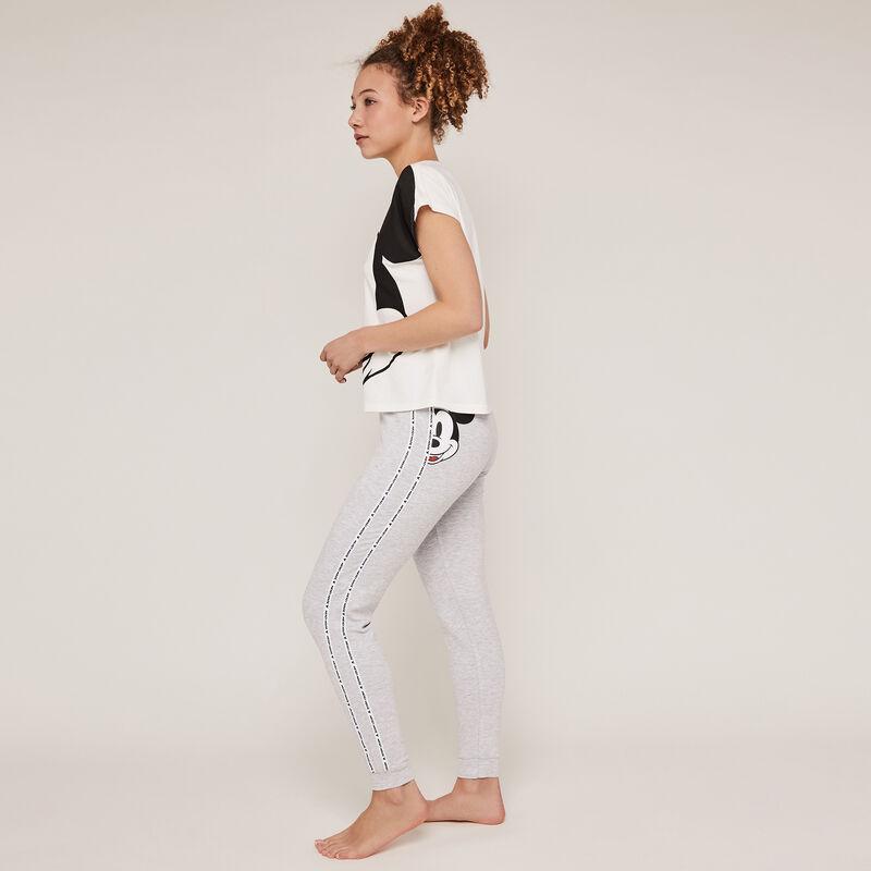 Pantalón con estampado de Mickey - gris ;