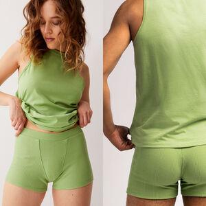 Top sin mangas unisex de punto - verde