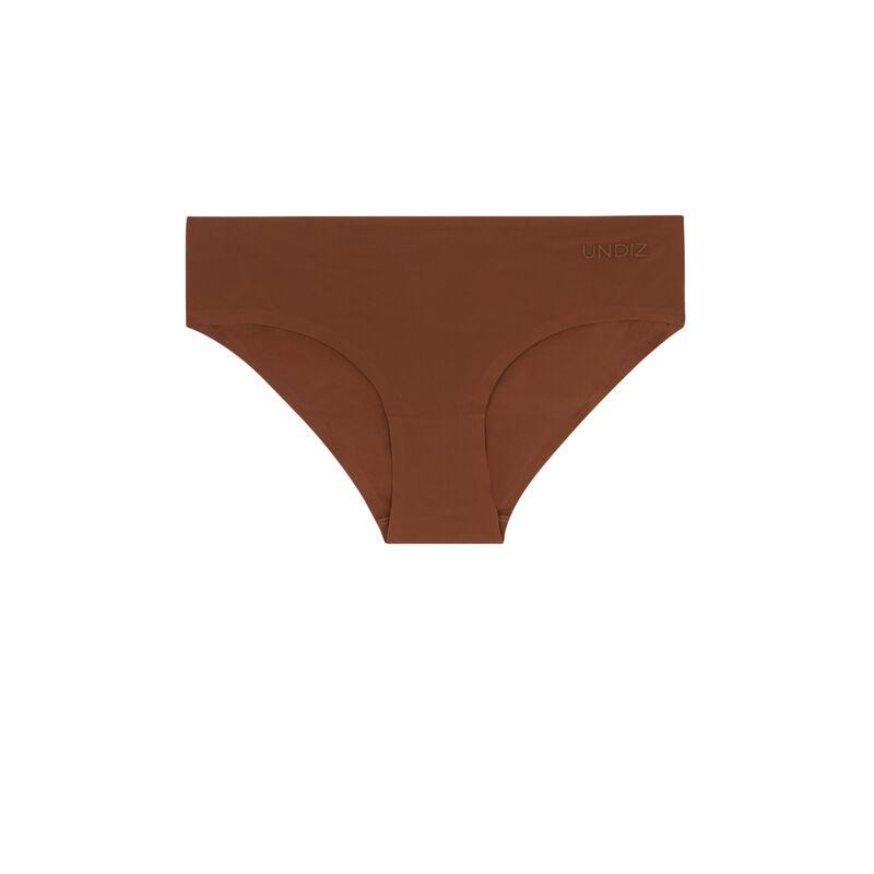 Braguita culotte de microfibra sin costuras - marrón;