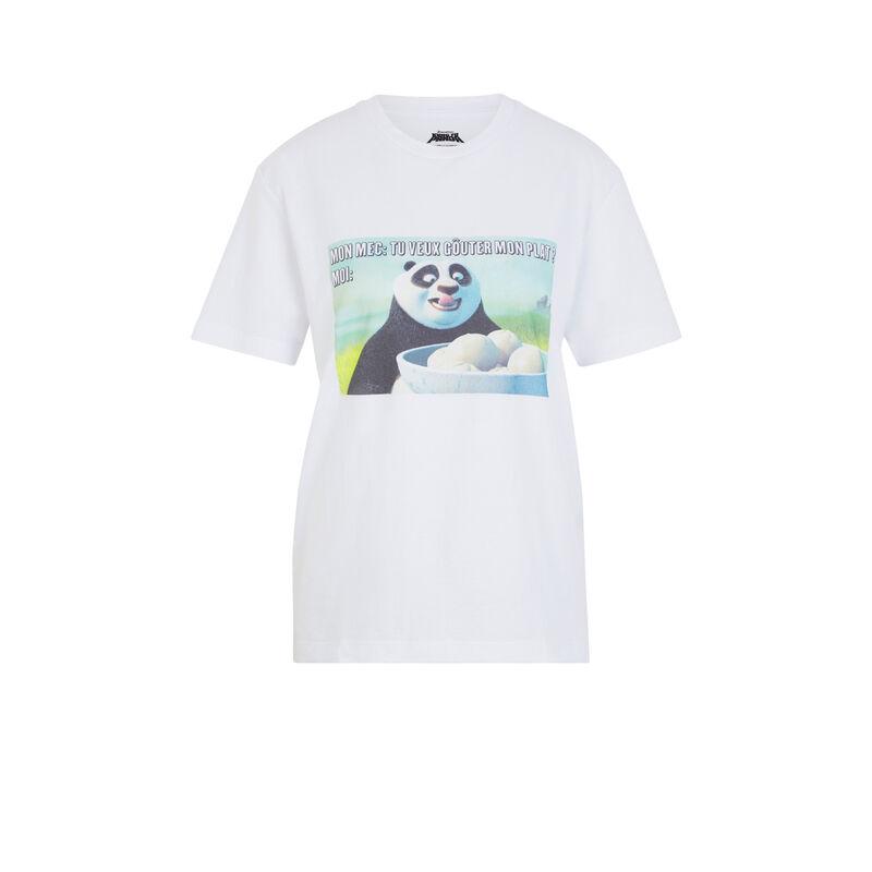 Top de manga corta Kung Fu Panda - blanco;