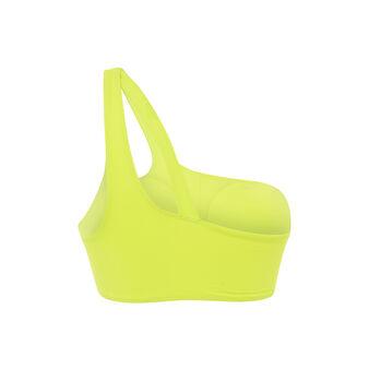 Top de bikini bralette amarillo asymetriz yellow.